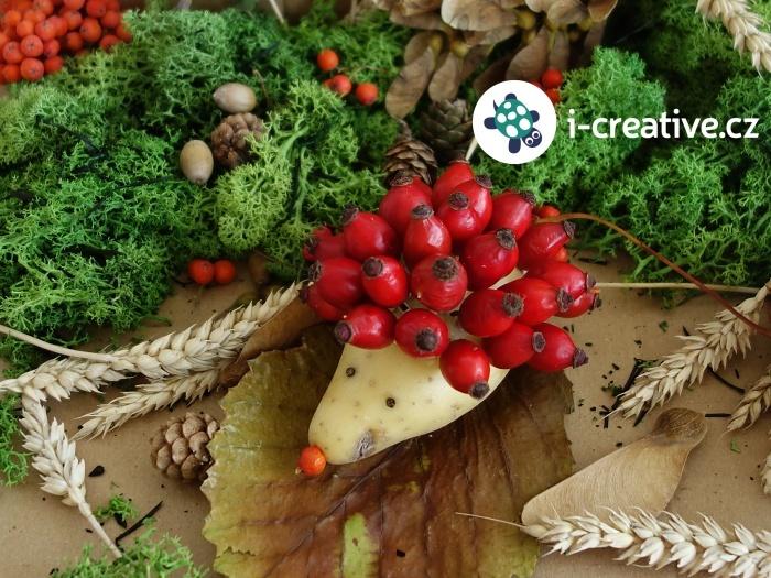 podzimní-tvoření-s-dětmi-ježek-z-brambory